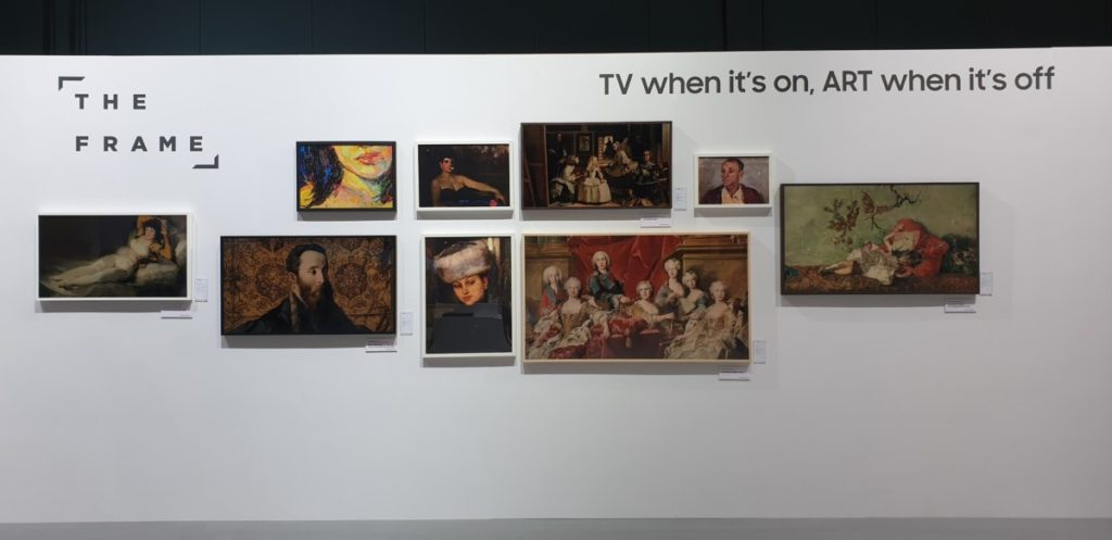 The Frame displays by Samsung don't suffer from burn-in and are able to mimic the appearance of a painting, allowing you to have an entire art gallery on display on demand