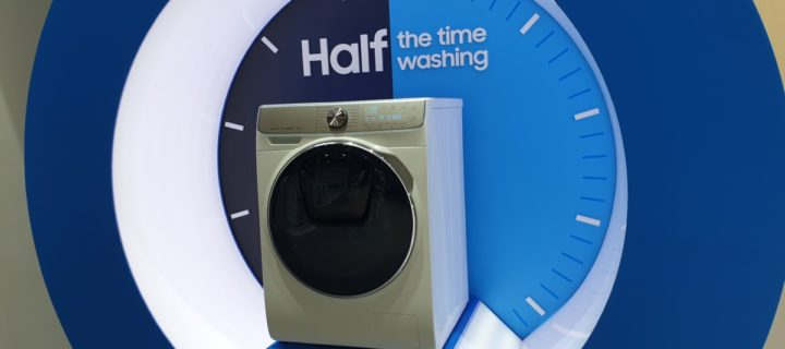New Samsung WW7800M QuickDrive gets your washing done in half the time