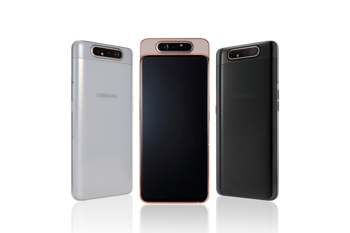 Galaxy A80 rear group shot