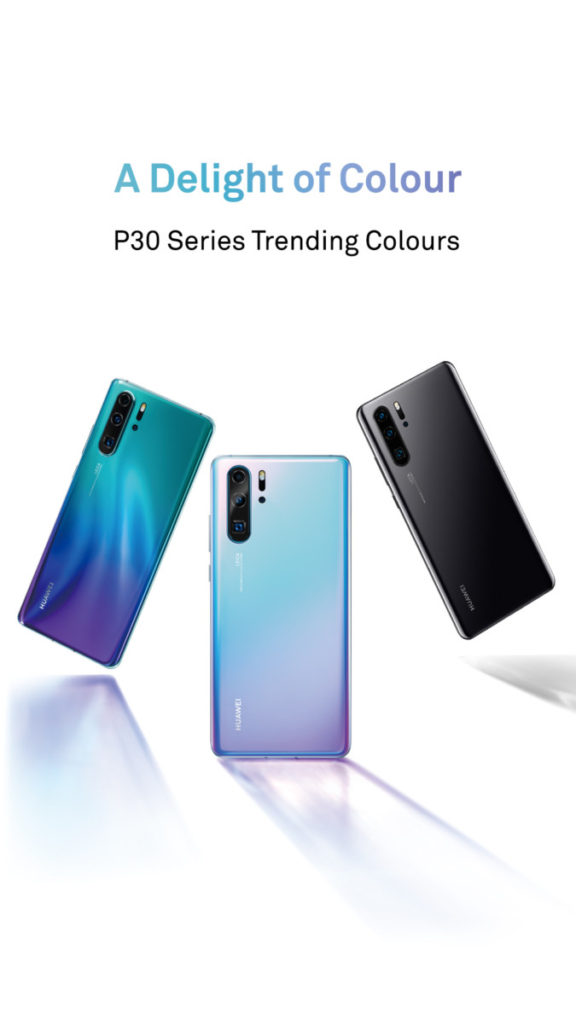 The Huawei P30 and P30 Pro come in a slick looking shade of Aurora Blue, Breathing Crystal and Black for the Malaysia market