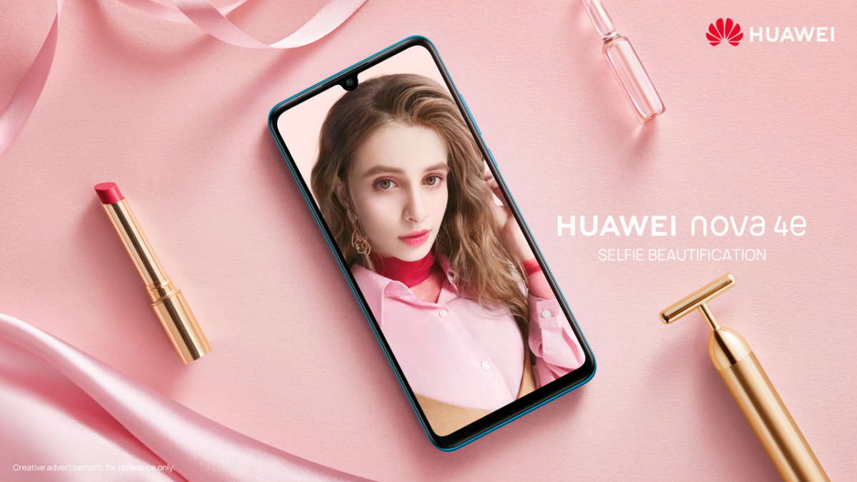 nova 4e front promotional art with selfie camera