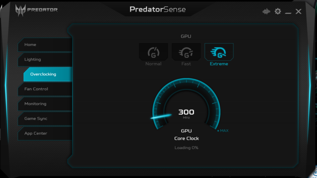 The Predator Triton 500 has a potent overclock mode that ramps up the fan temperature and clock speed to tackle demanding games