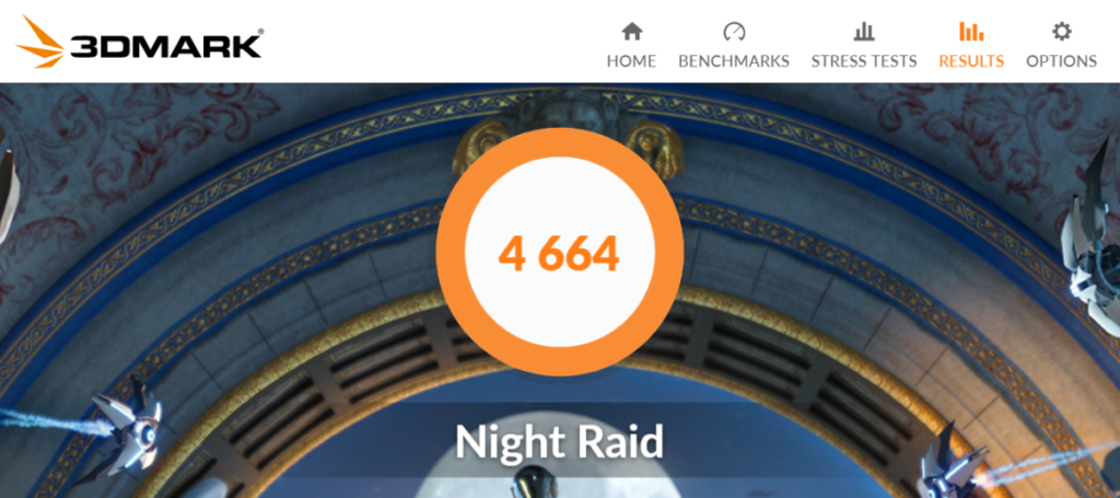 VivoBook Ultra K403 night raid benchmark