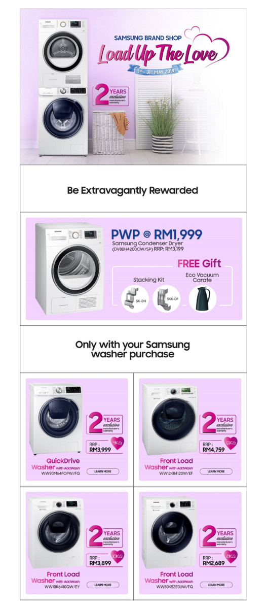 Samsung wants you to Load Up The Love with washing machine