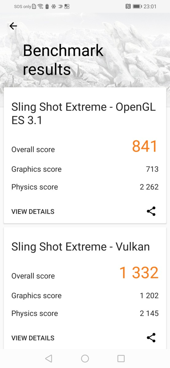 With normal mode on in 3DMark for the HONOR 20 Lite