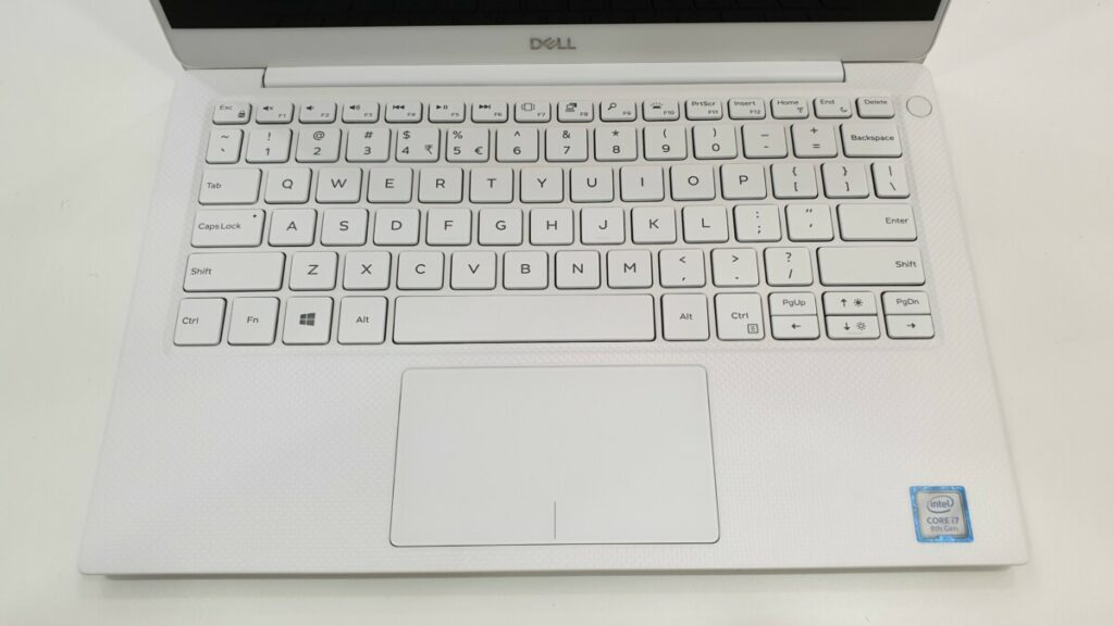 Dell XPS 13 9380 keyboard