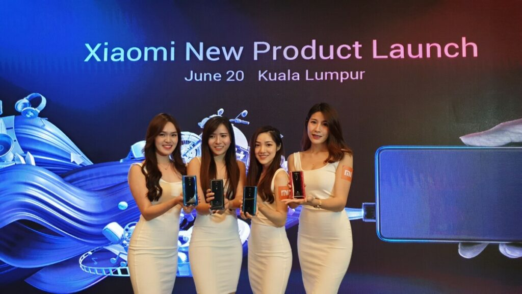 Mi 9T launch girls