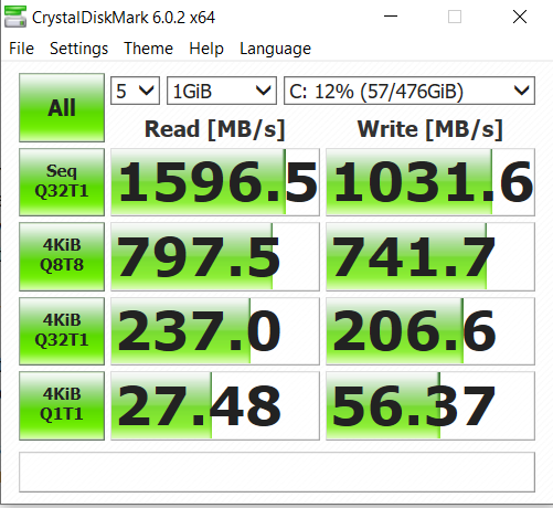 Asus VivoBook A512 Crystal Disk