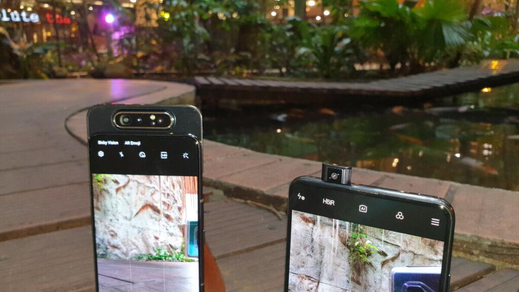 Mi 9T and Galaxy A80 cameras