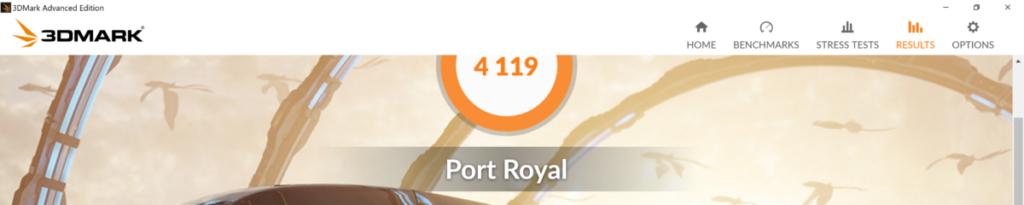 alienware m17 port royale test