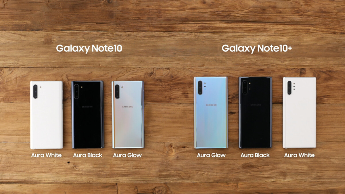 Note 10 colours
