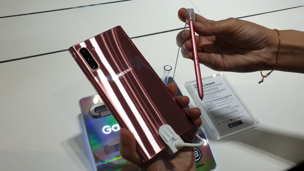 note 10 S Pen in Aura Pink