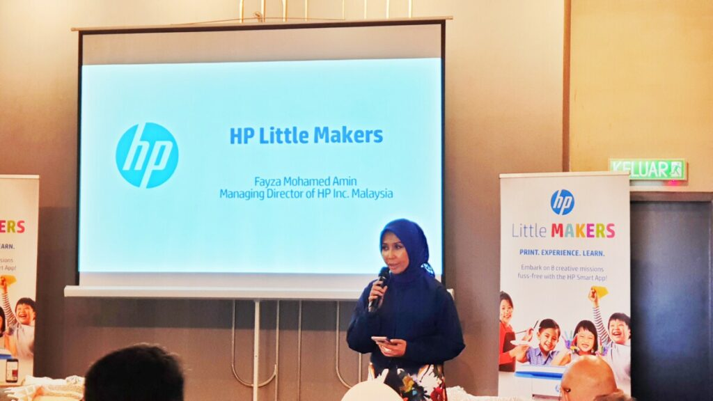 HP Little Makers Challenge Fayza Mohamed Amin, Malaysia Managing Director of HP Inc