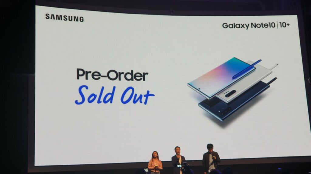 Galaxy Note 10 sold out