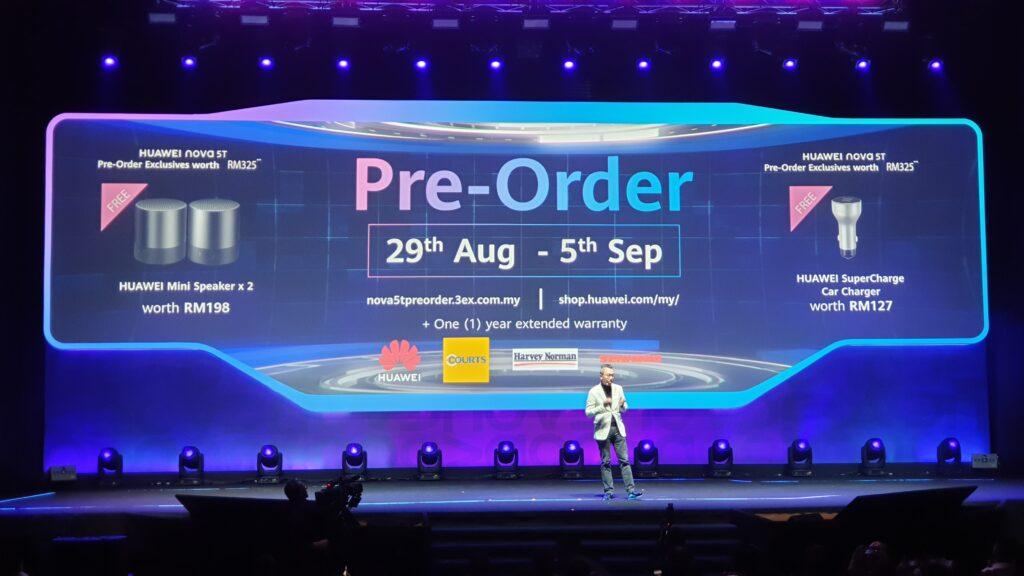 Huawei nova 5T preorder