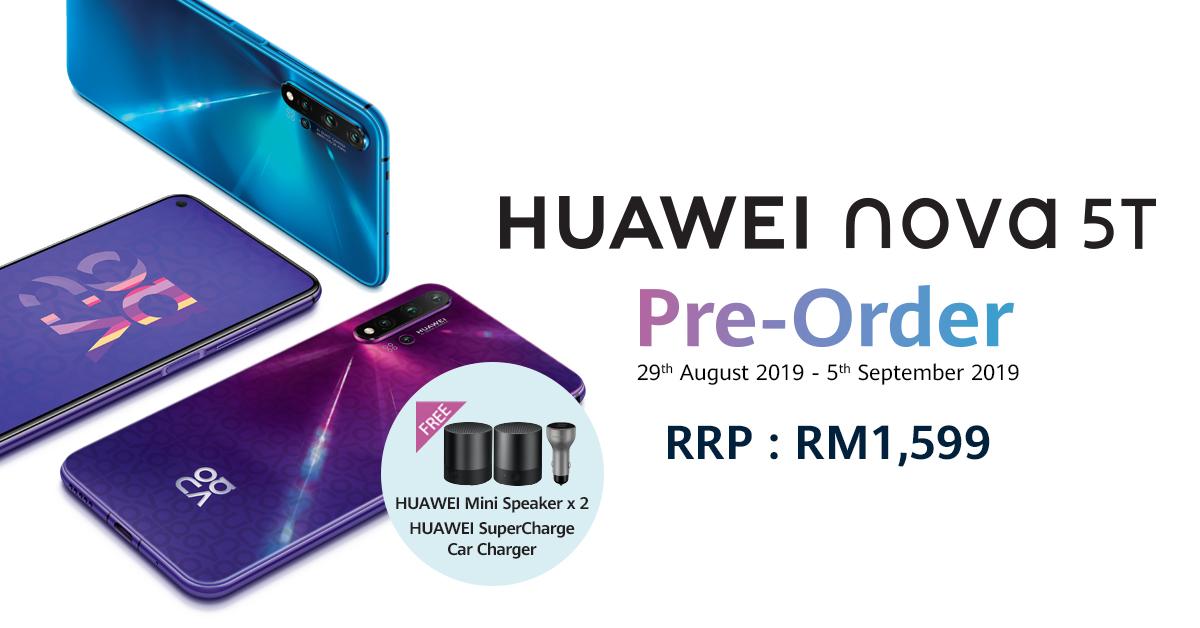 Huawei Nova 5T preorder details