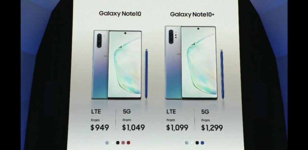 Note10 prices