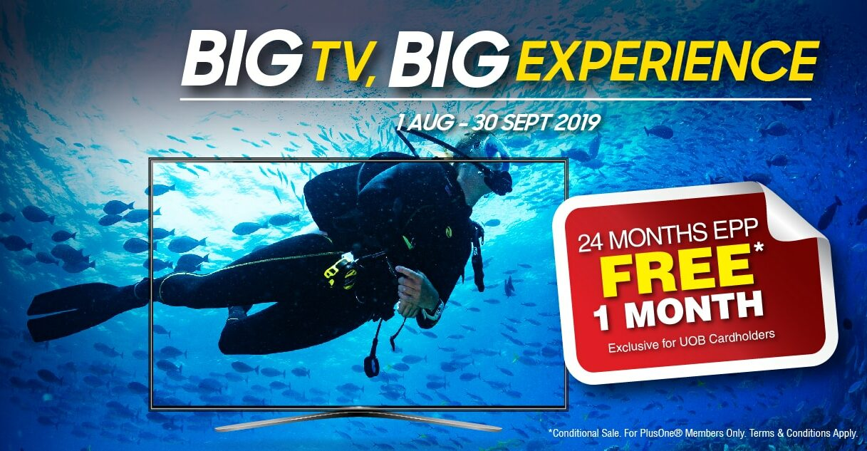 Get a huge TV in your home right now with senQ Big TV Big Experience promotion