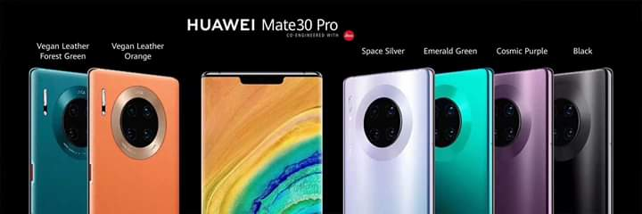 Mate30 Pro colour choices