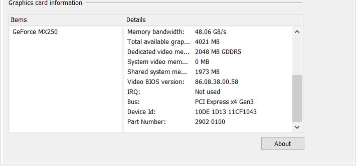 Asus VivoBook S15 S512F GPU MX250