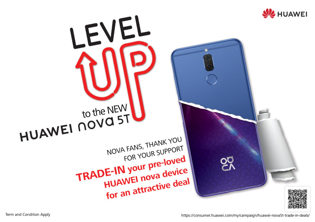 Huawei nova 5T level up programme