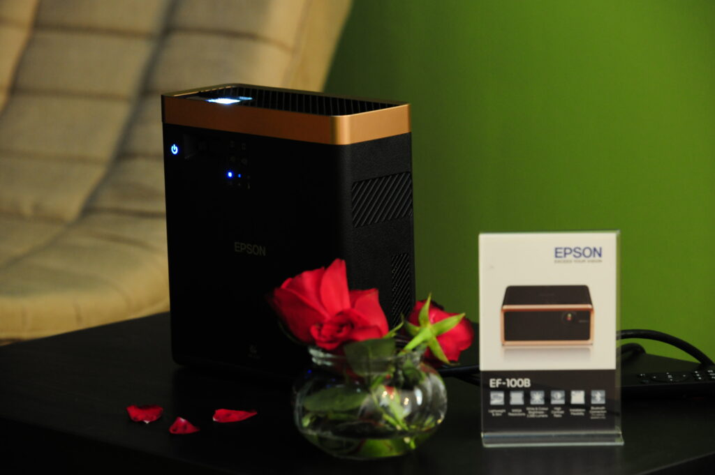 Epson Debuts World S Smallest Ef 100 3lcd Laser Projector