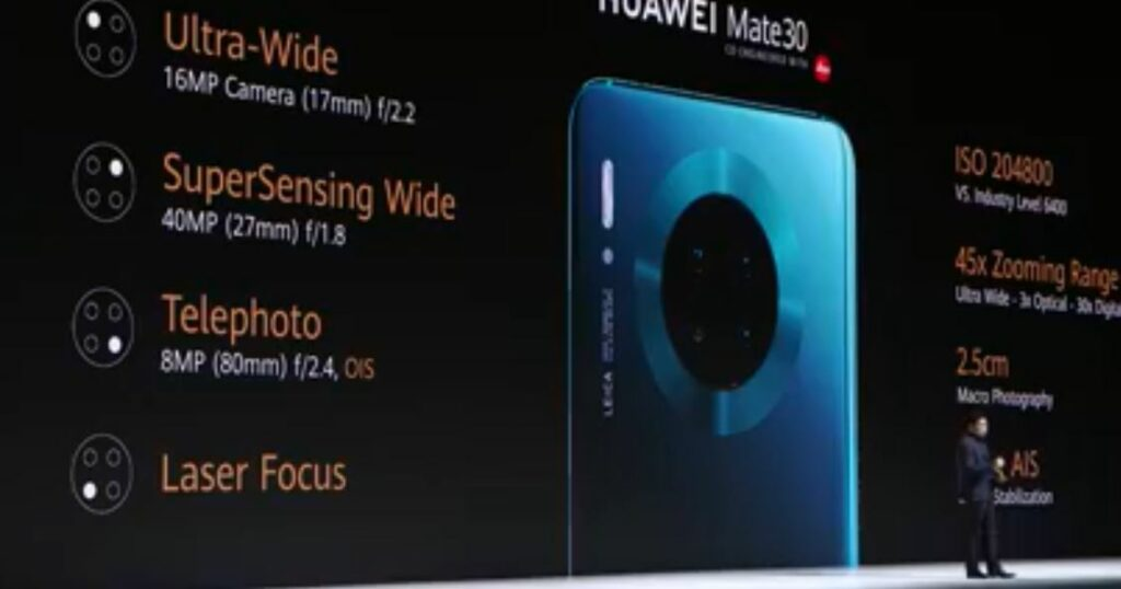 Huawei Mate30 camera array