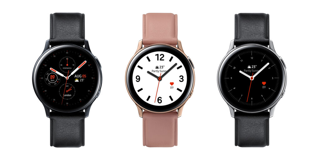 Galaxy Watch Active 2 in stainless steel
