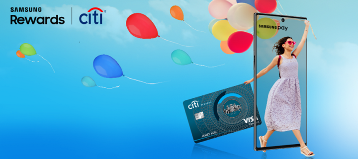 Get 6,000 Samsung Rewards Points when you sign up for a new Citi Card via Samsung Pay