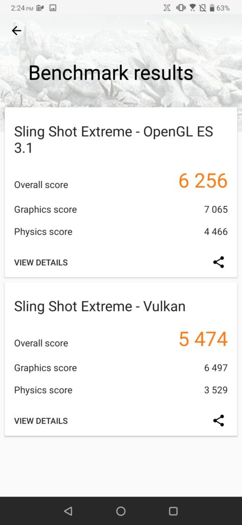 ROG Phone 2 3DMark performance on
