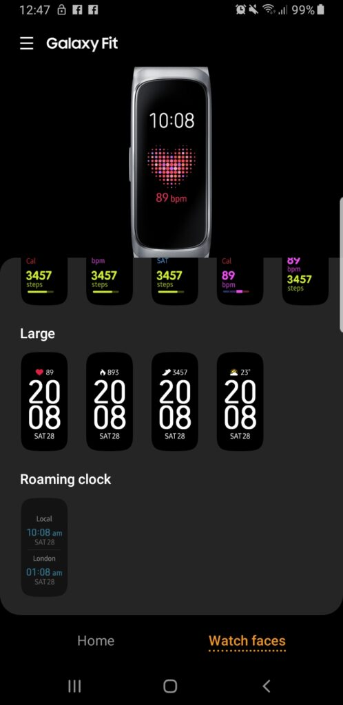 Galaxy Fit watch faces 1