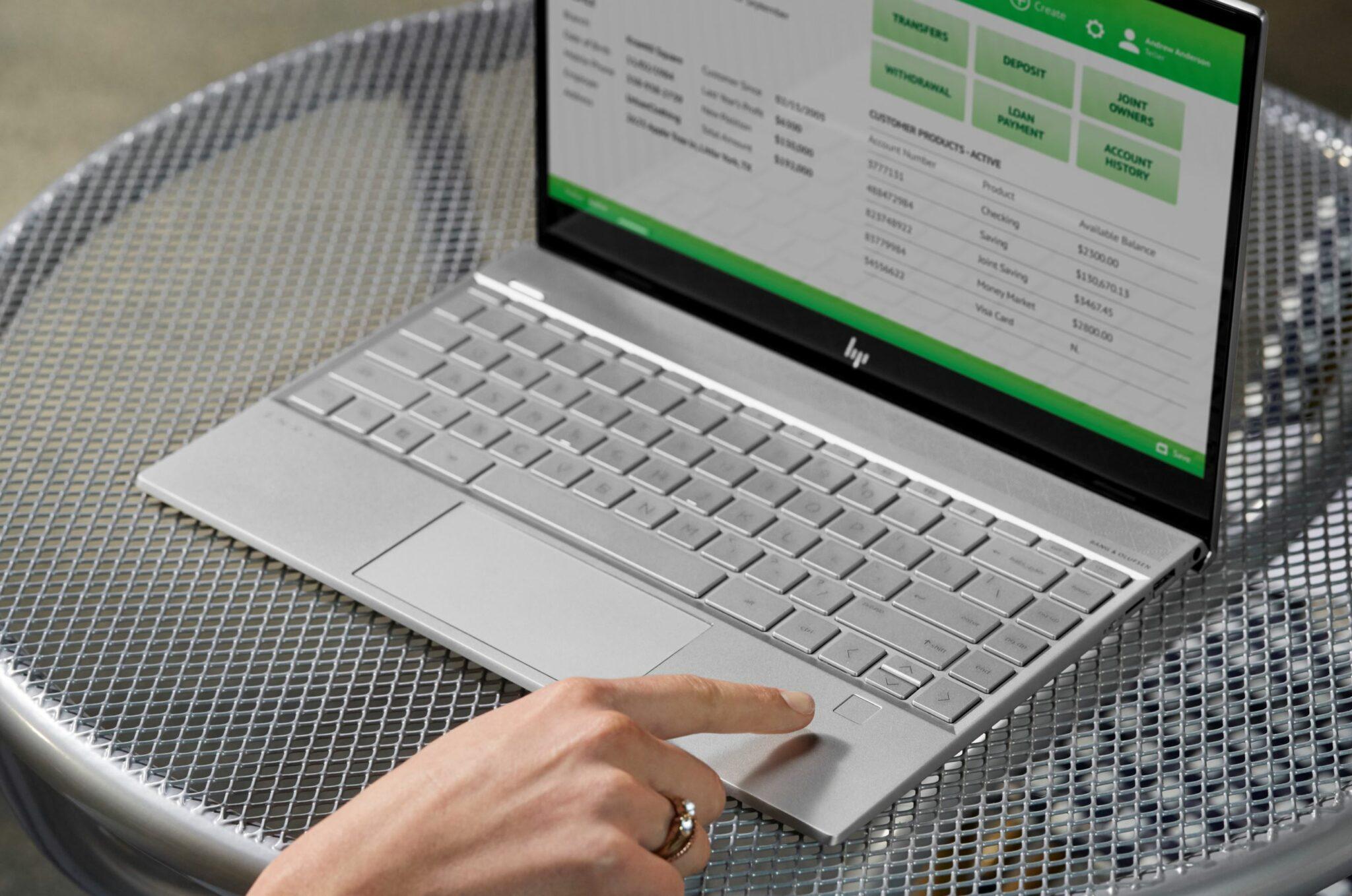 HP Envy 13 fingerprint reader