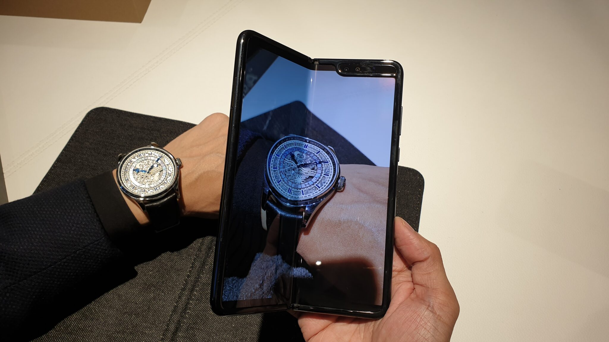 Galaxy Fold semi deployed