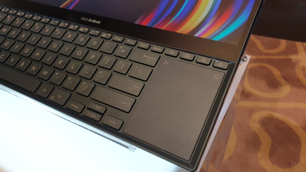 ZenBook Duo touchpad