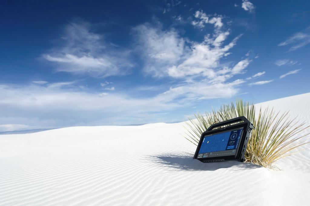 Latitude 7220 Rugged Extreme sand
