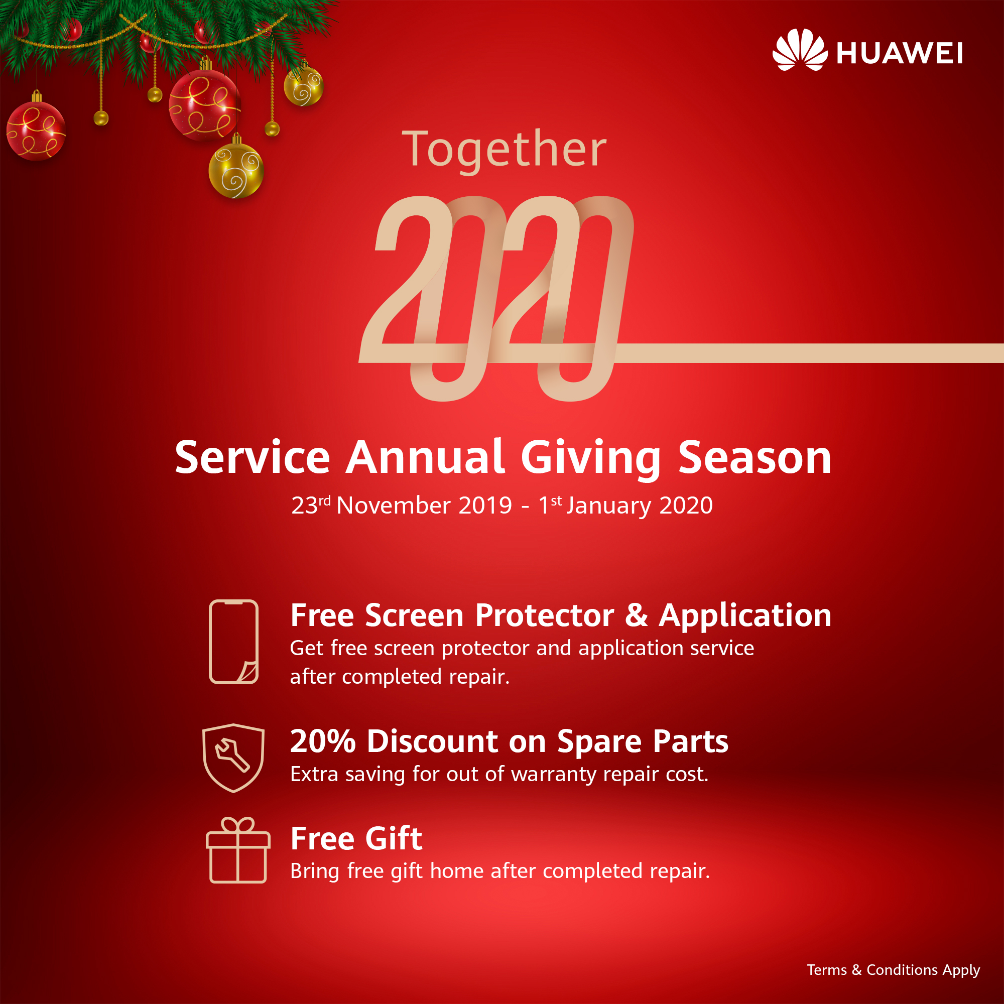 Huawei Service Annual Giving Season