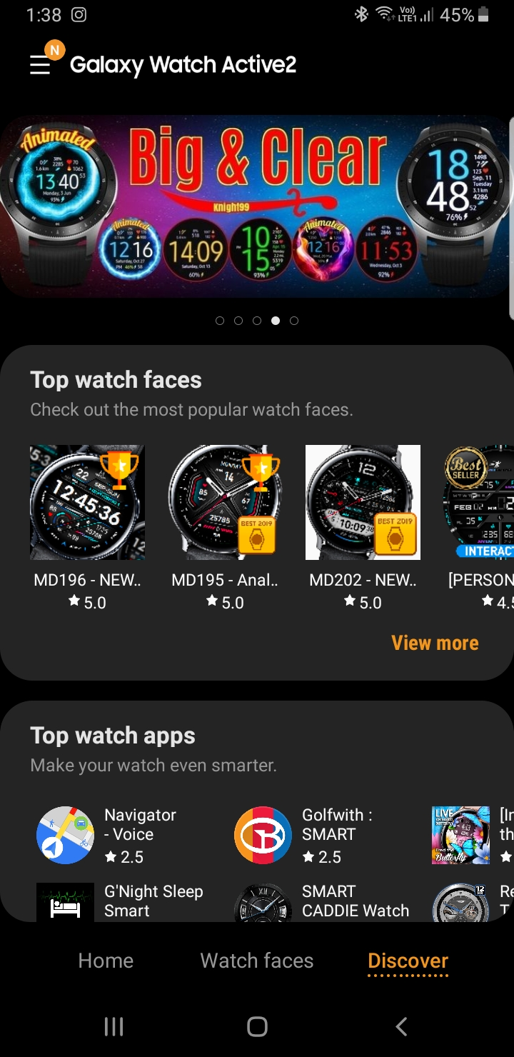 Watch Active2 faces