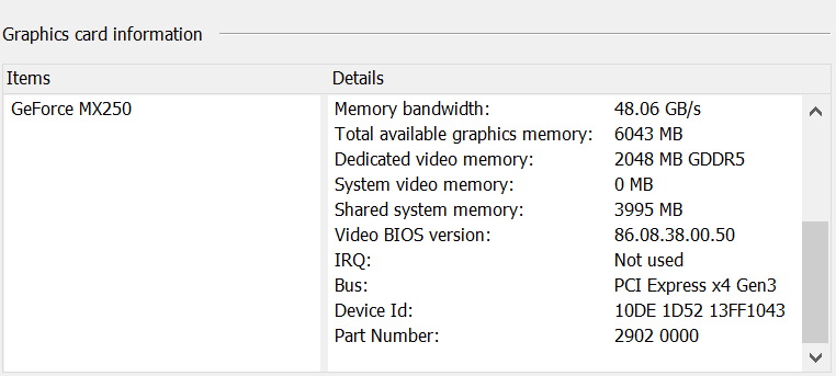Asus ZenBook Duo UX481F MX250