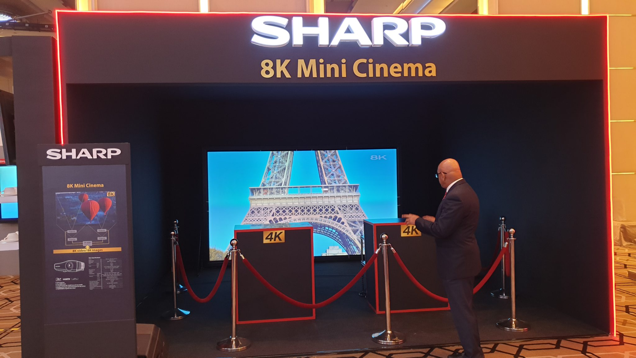 Sharp Smart Connected 2020 Conference 8K mini cinema