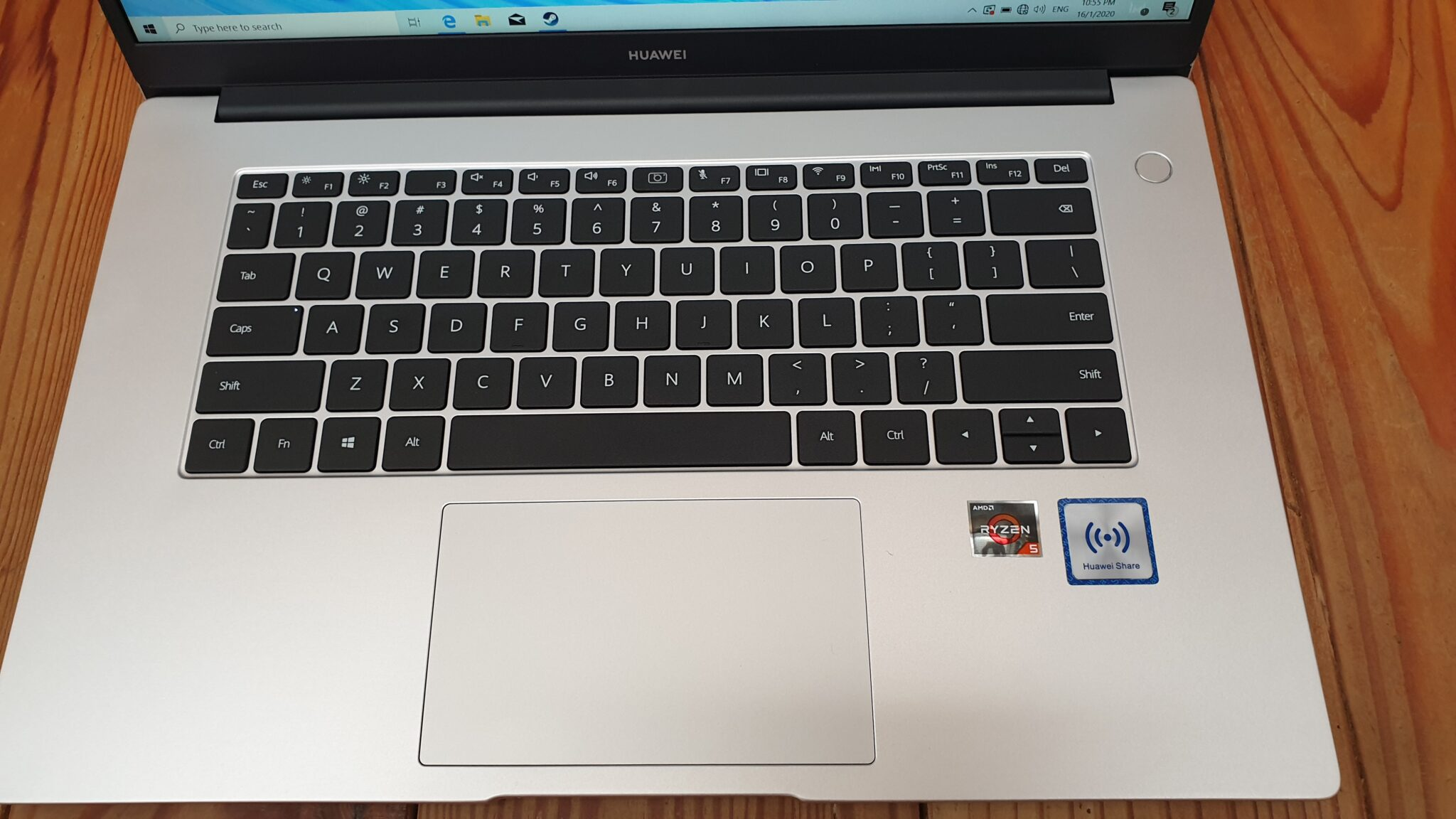 MateBook D 15 keyboard