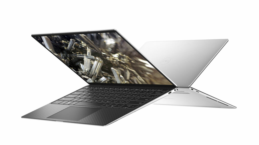 XPS 13 9300 in black and white