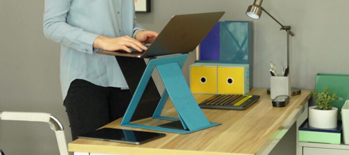 The MOFT-Z is a super portable standing desk that's hitting Kickstarter this February