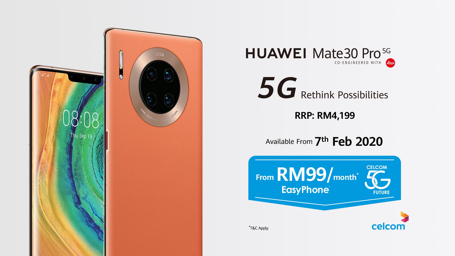 Mate30 Pro 5G celcom