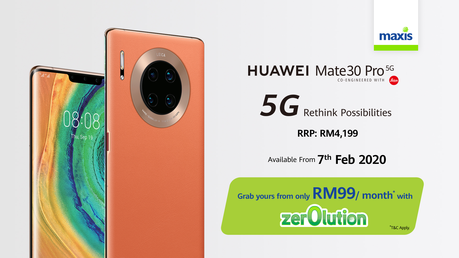 Mate30 Pro 5G Maxis