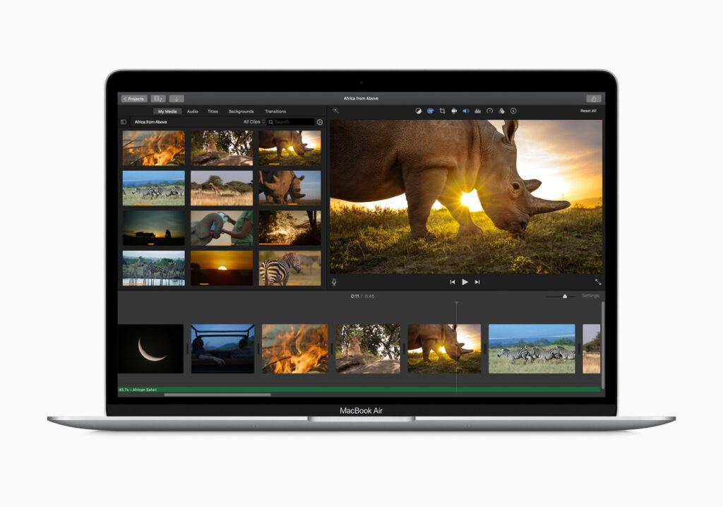 Apple MacBook Air Retina screen
