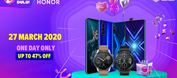 HONOR phones and gear up to 47% off on Lazada flash sales this 26th March