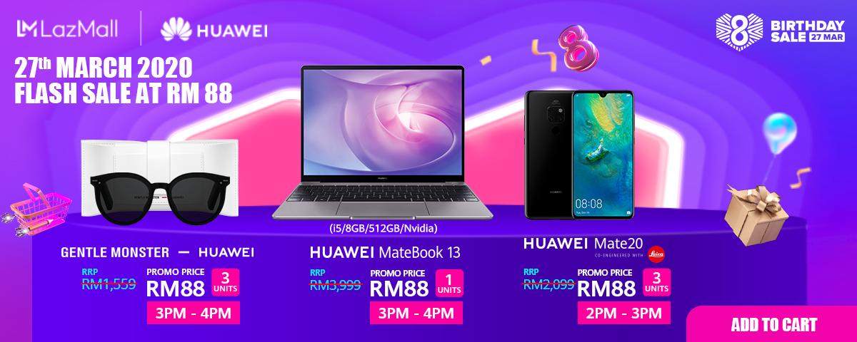 Lazada Huawei flash sale