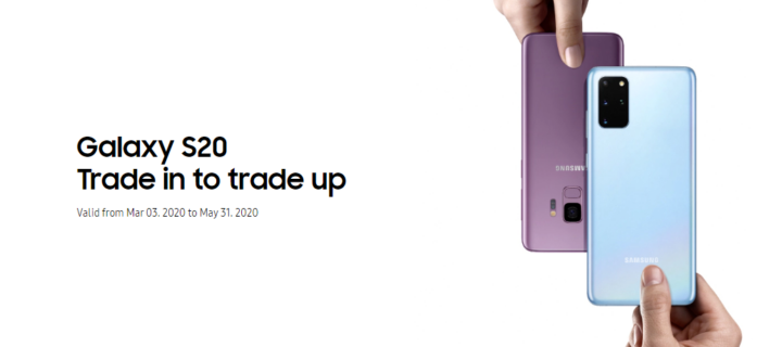 Trade in your old smartphones and trade-up to the new Samsung Galaxy S20