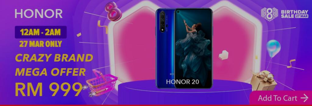 Honor Lazada flash sale