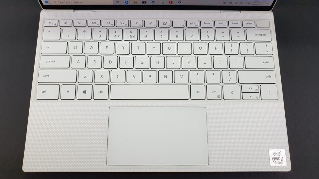XPS 13 9300 front keyboard